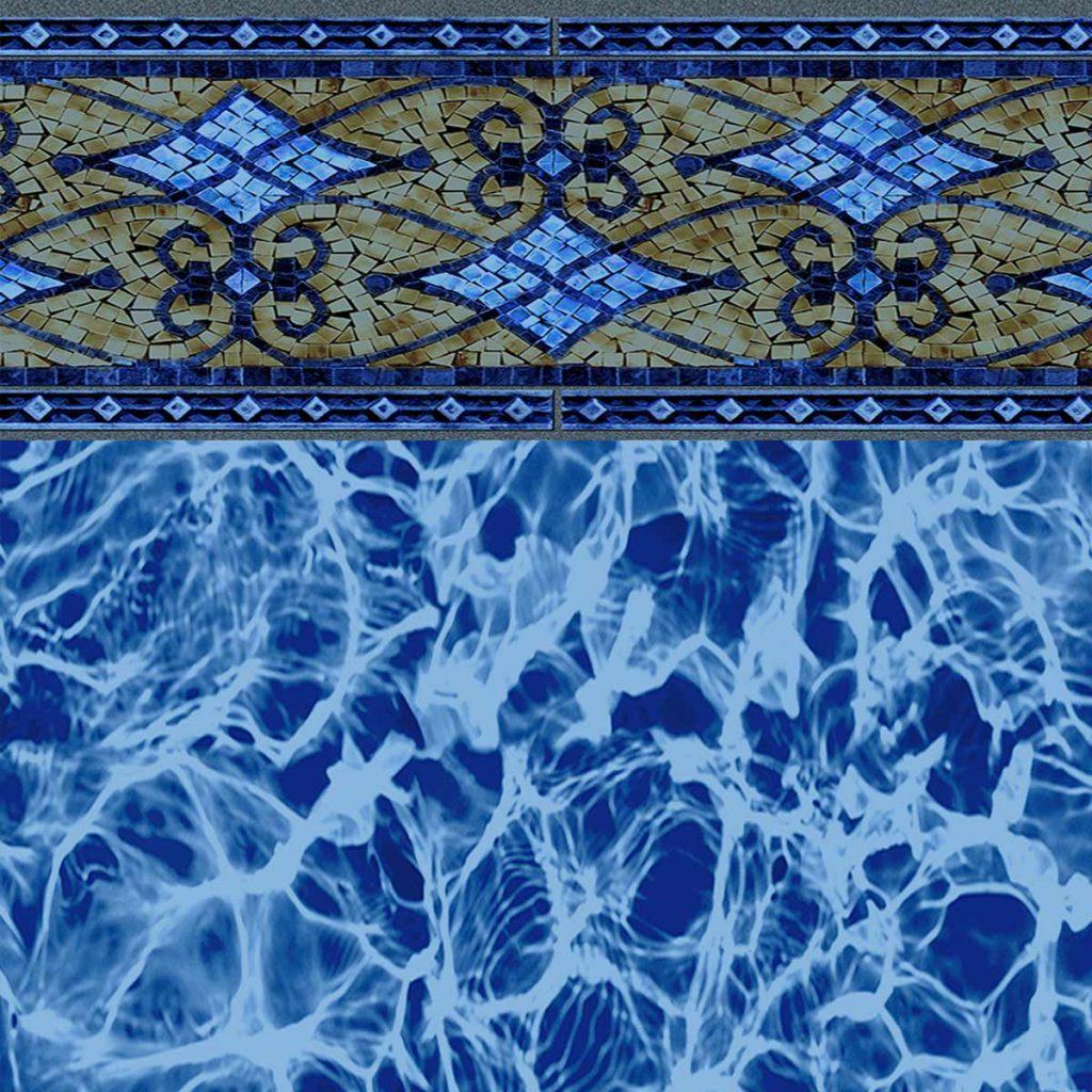 Las Olas BLue Diffusion Vinyl Pattern
