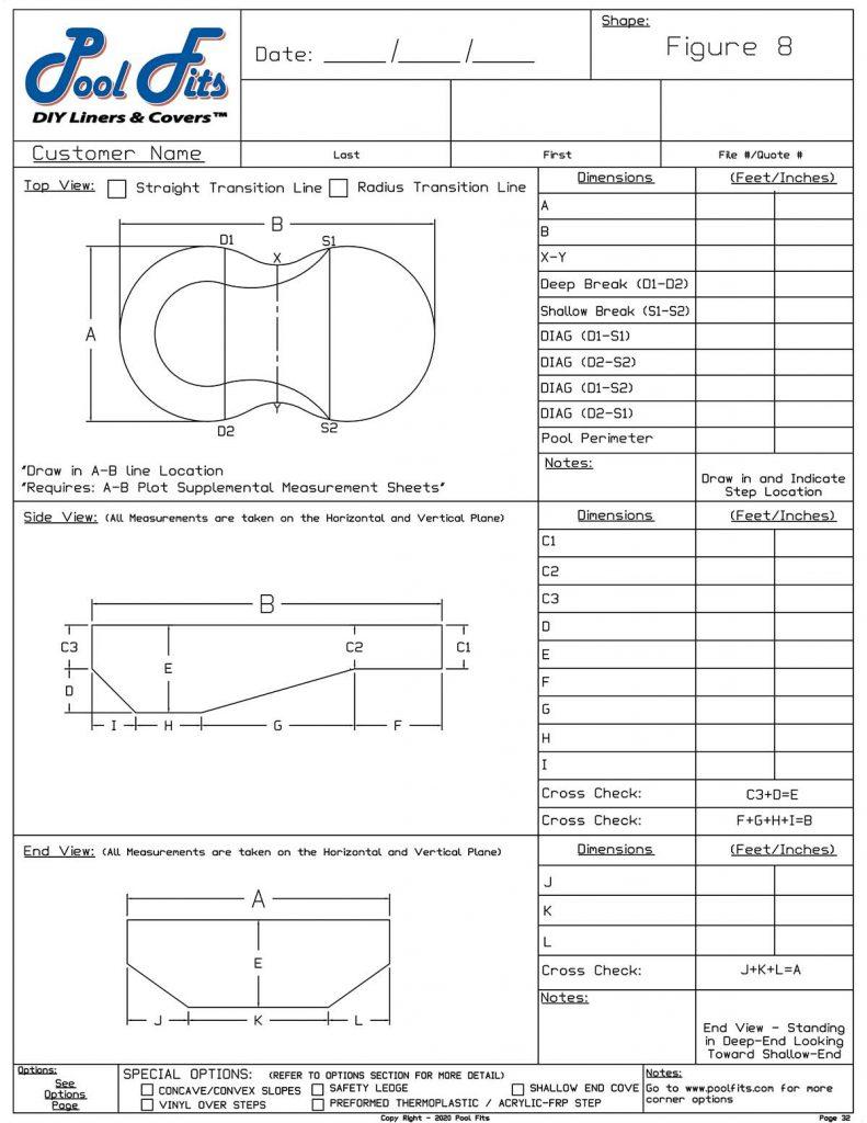 Pool Fits Figure 8 Measurement Form