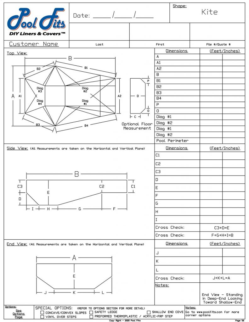 Kite Measurement Form