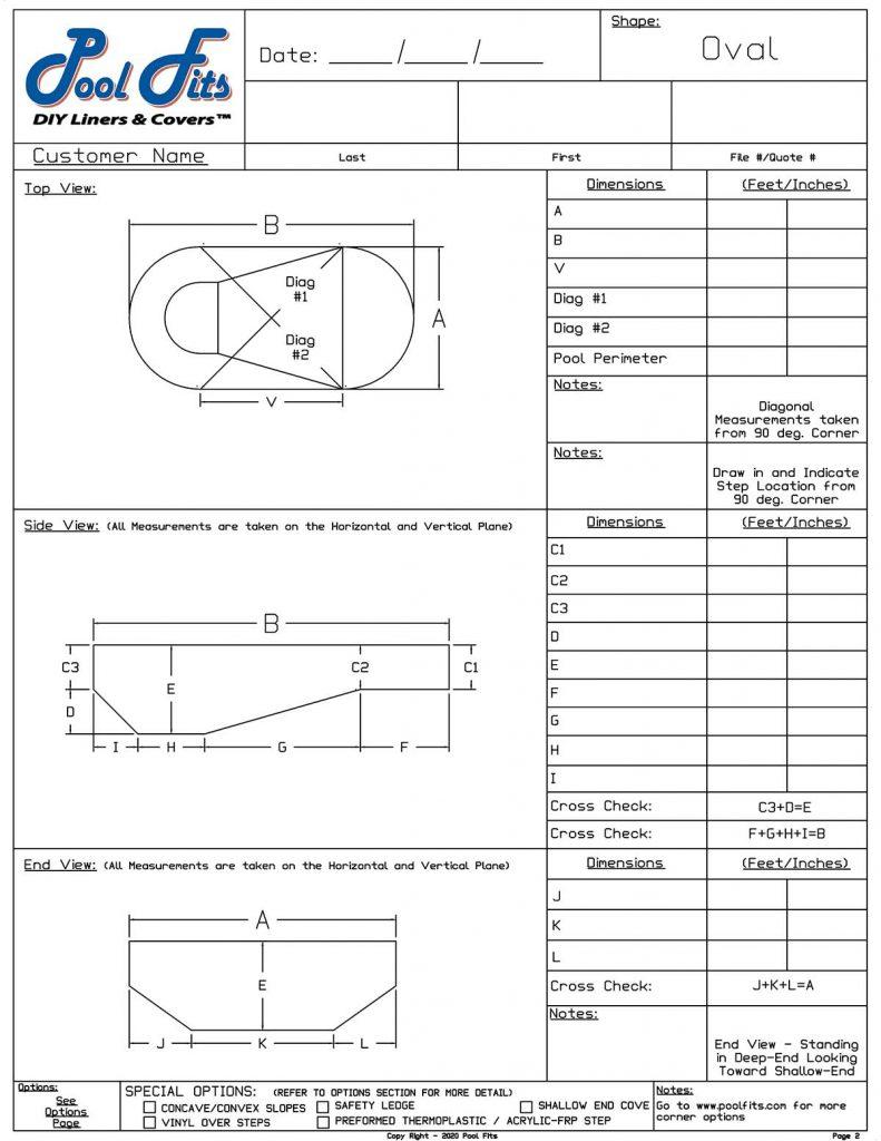 Oval Measurement Form