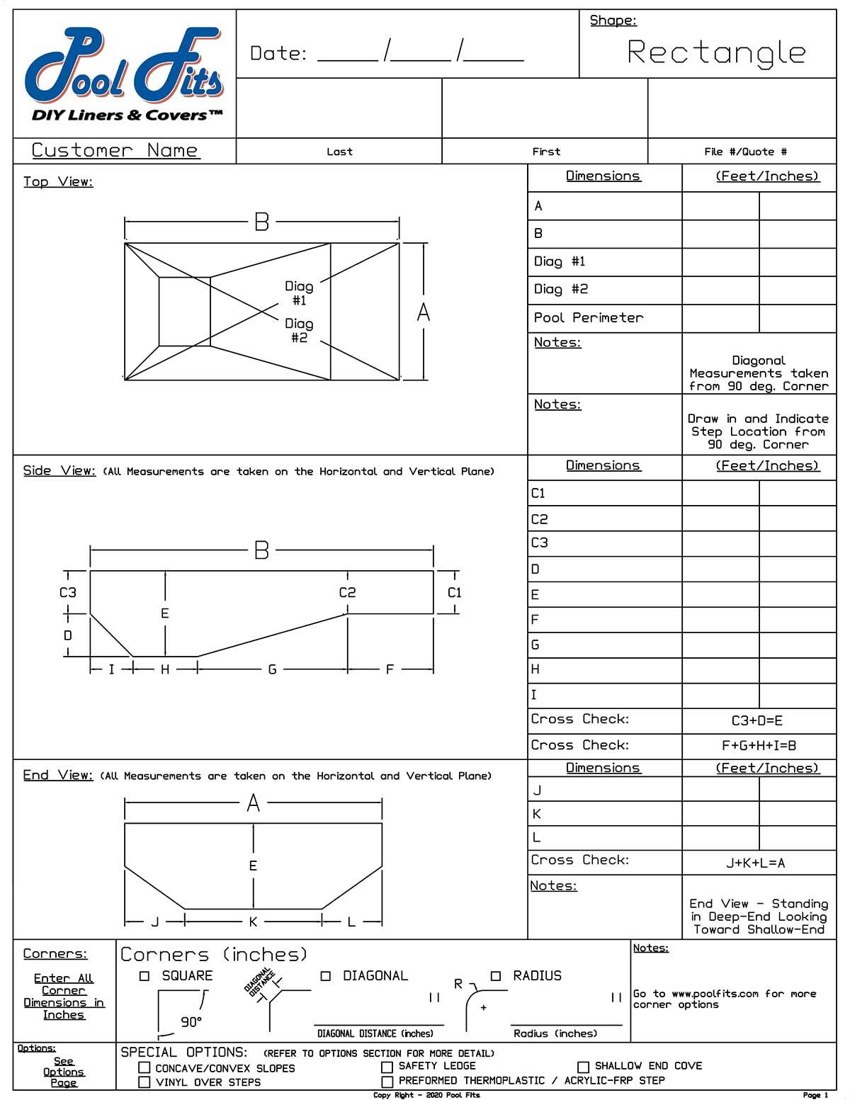 Rectangle Measurement Form