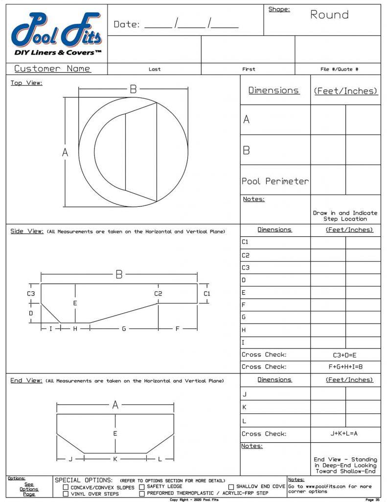 Round Measurement Form