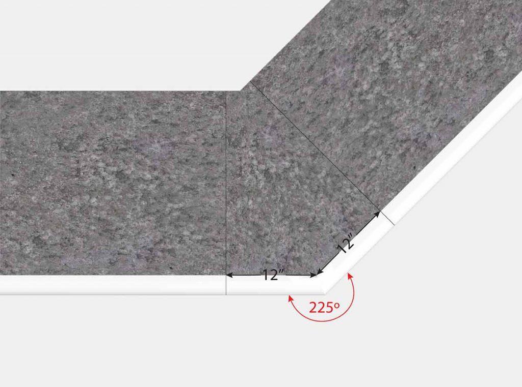 12 Inch x 12 Inch Reverse Mitered Corner - Top View