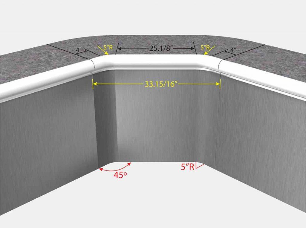 Foxx 2 Foot 1 Inch Diagonal Corner - Foxx - Isometric View