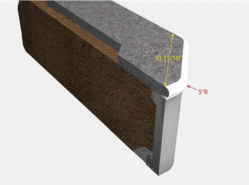 2 Foot 1 Inch Reverse Cut Off Corner - Isometric View