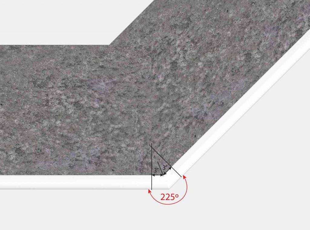3 Inch x 3 Inch Reverse Mitered Corner - Top View