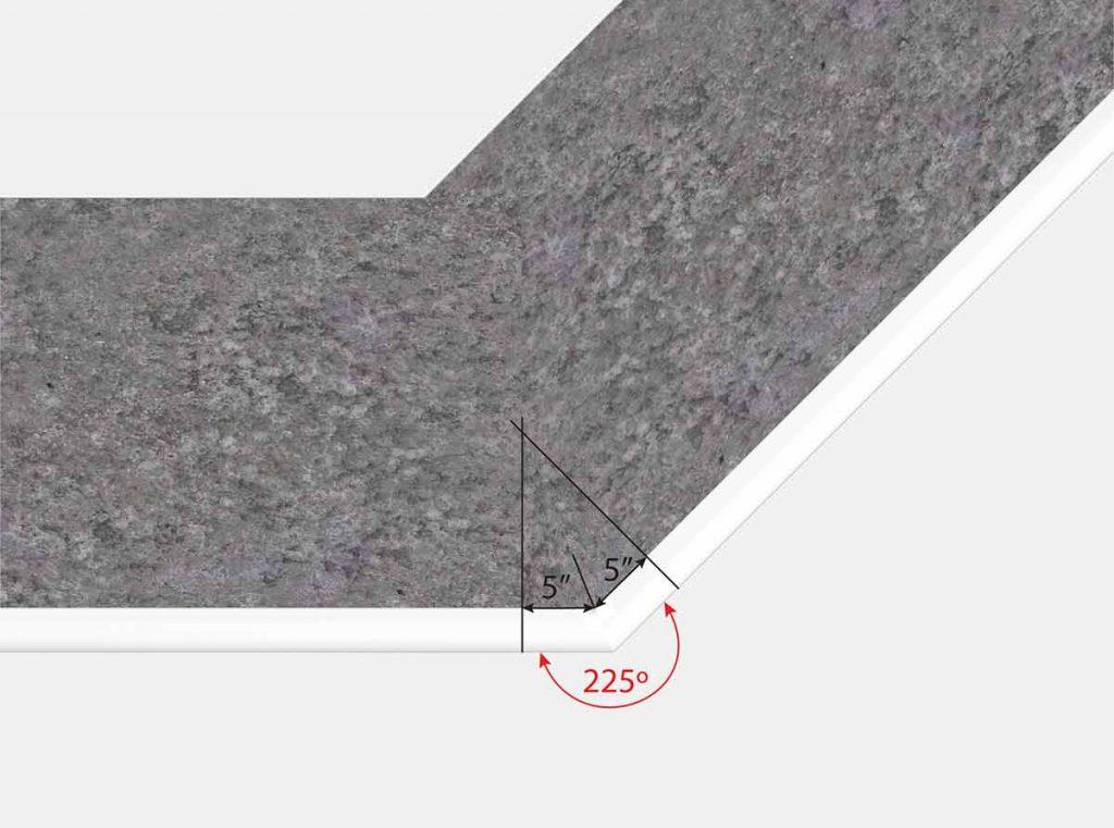Top View Rerverse Mitered Corner - 5 x 5