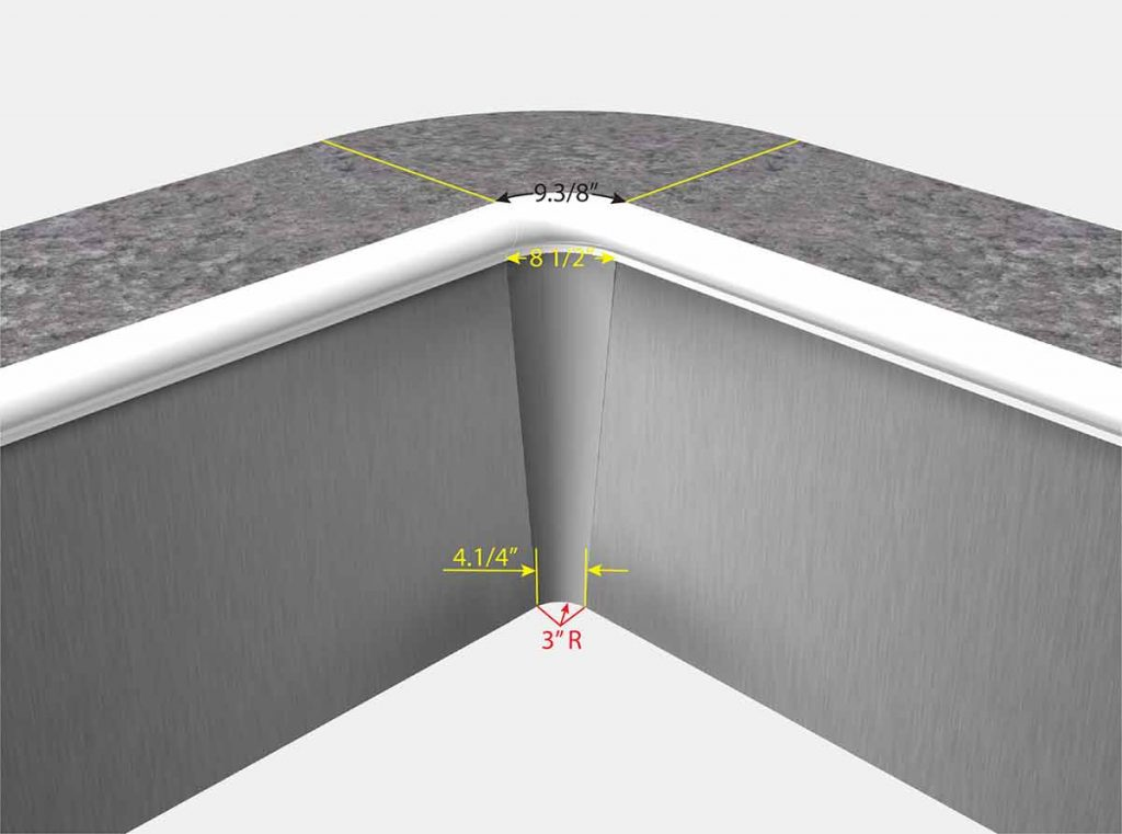6 Inch Radius On Top to 3 Inch Radius at Bottom - Buster Crabbe - Isometric View