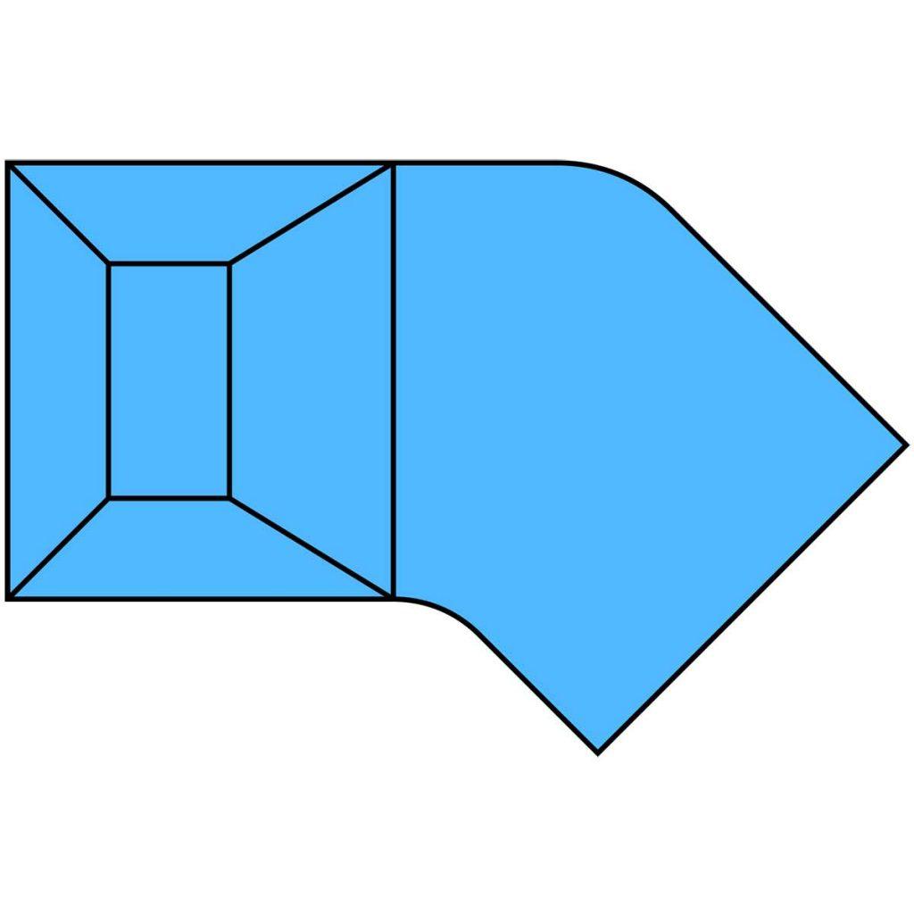 Lazy-L Radius Pool Shape