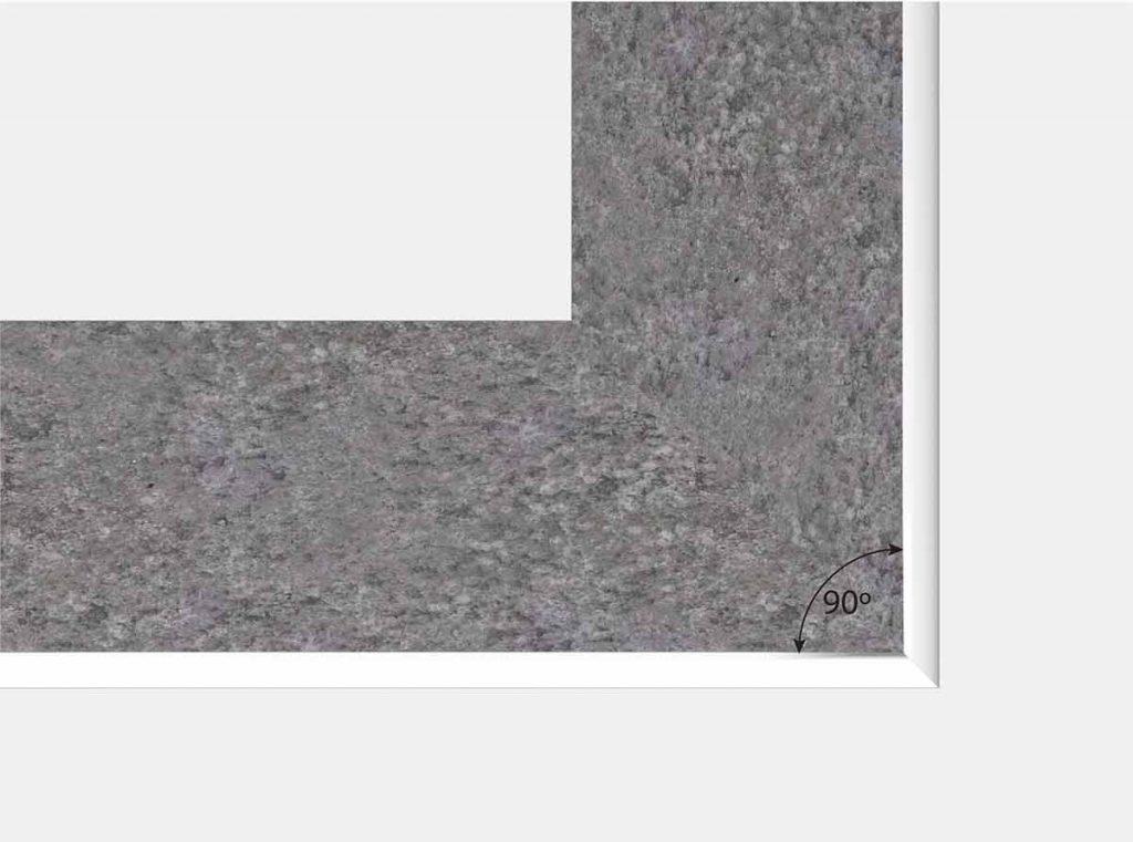 Square Reverse Inground Corner - Top View