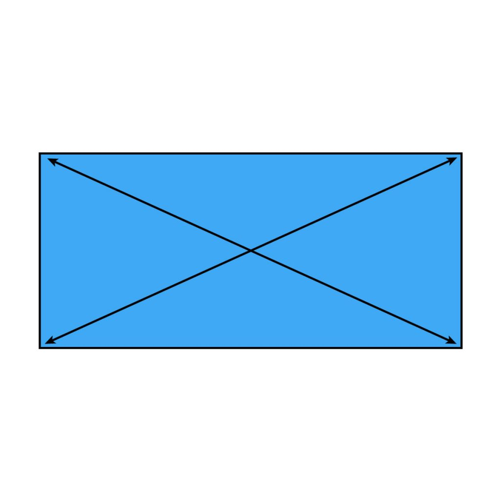 How to Measure Onground Rectangle Diagonals