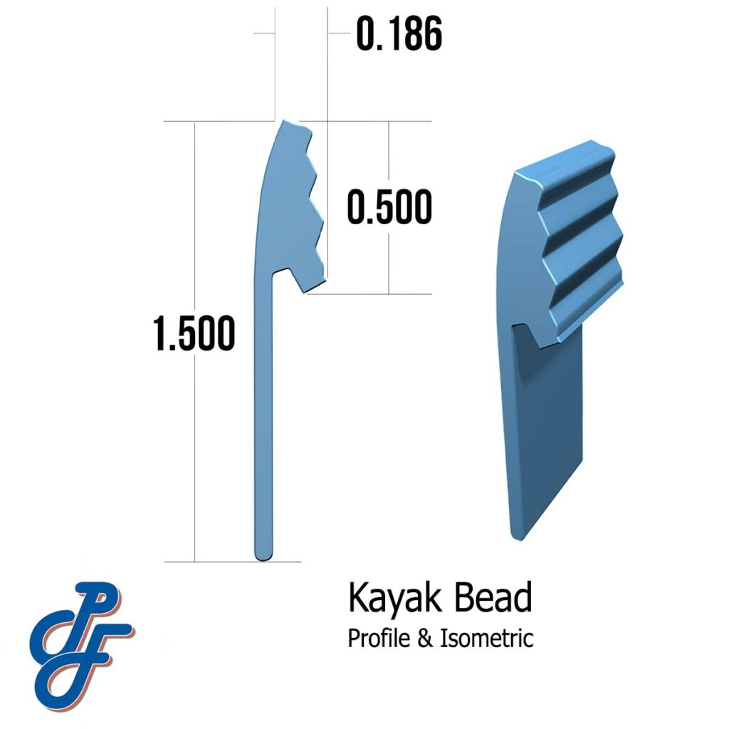 Kayak Onground Pool Liner Bead Profile and Isometric View