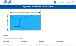 Pool Fits Inground Swimming Pool Vinyl Liner Quick Quote