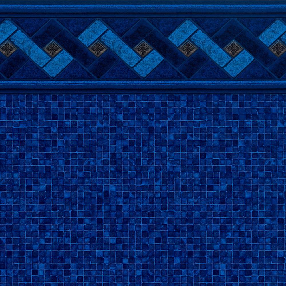 Pool Fits Azure Peak Tile Indigo Mosaic Floor Inground Pool Liner Pattern