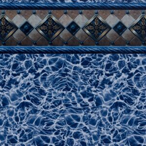 Pool Fits Bayview Tile Light Blue Diffusion Floor Inground Pool Liner Pattern