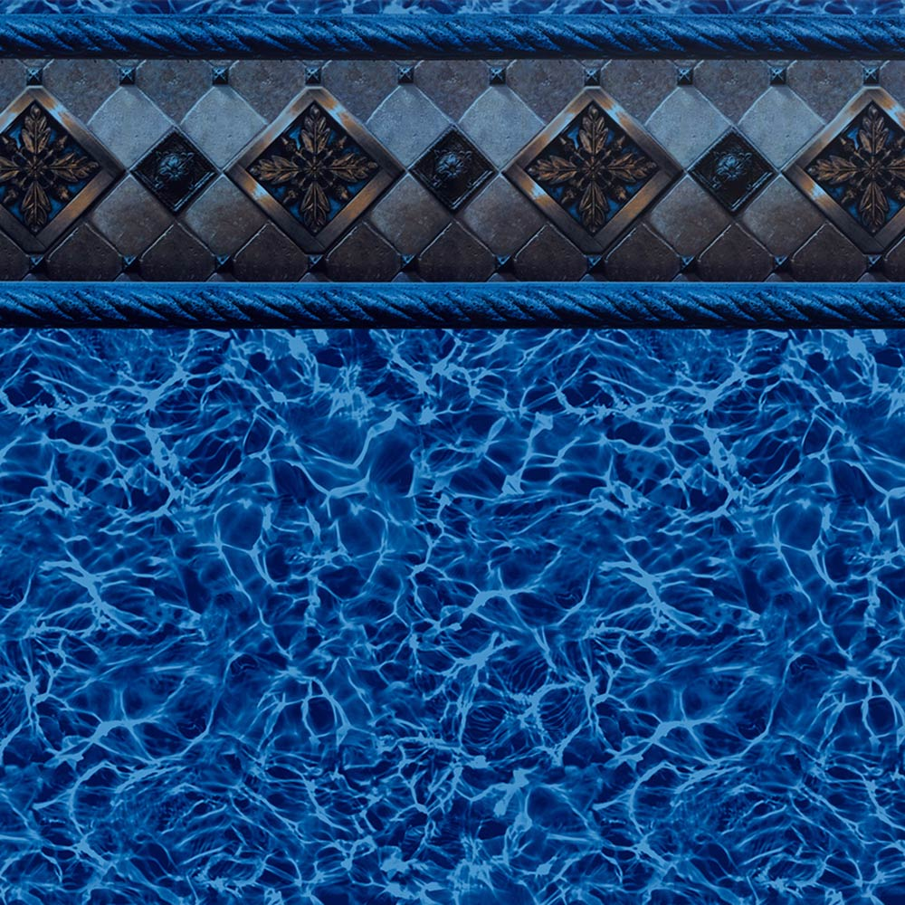 Pool Fits Blue Bayview Tile Blue Diffusion Floor Inground Pool Liner Pattern
