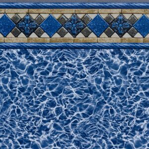Pool Fits Kingsford Tile Light Blue Diffusion Floor Inground Pool Liner Pattern