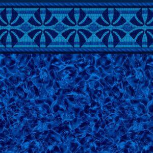 Pool Fits Montauk Tile Indigo Arctic Floor Inground Pool Liner Pattern