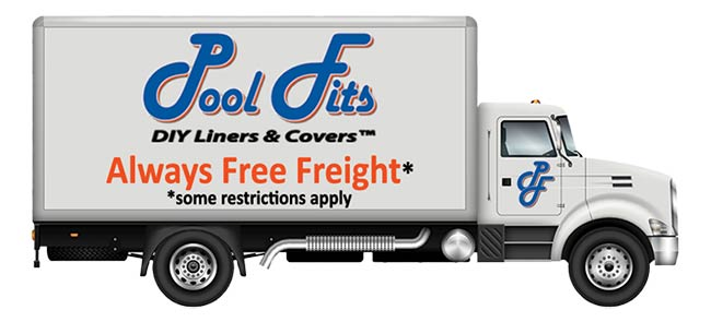 PoolFits Free Freight