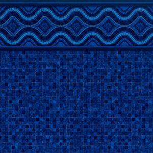 Pool Fits Renegade Tile Indigo Mosaic Floor Inground Pool Liner Pattern