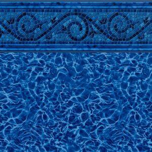 Pool Fits Siesta Wave Blue Tile Blue Diffusion Floor Inground Pool Liner Pattern