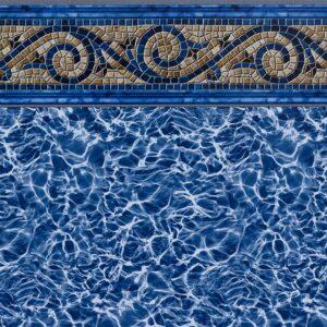 Pool Fits Siesta Wave Tile Light Blue Diffusion Floor Inground Pool Liner Pattern