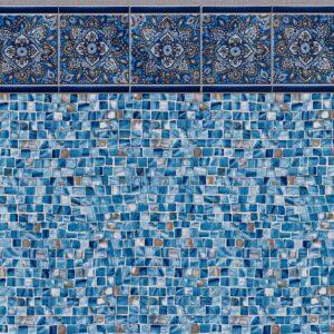 Pool Fits Sunset Tile Oyster Bay Inground Pool Liner Pattern
