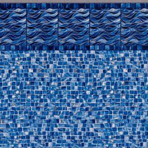 Pool Fits Surf Tile Oyster Bay Silver Floor Inground Pool Liner Pattern