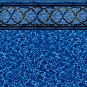 Pool Fits Tidewater Tile Blue Diffusion Inground Pool Liner Pattern