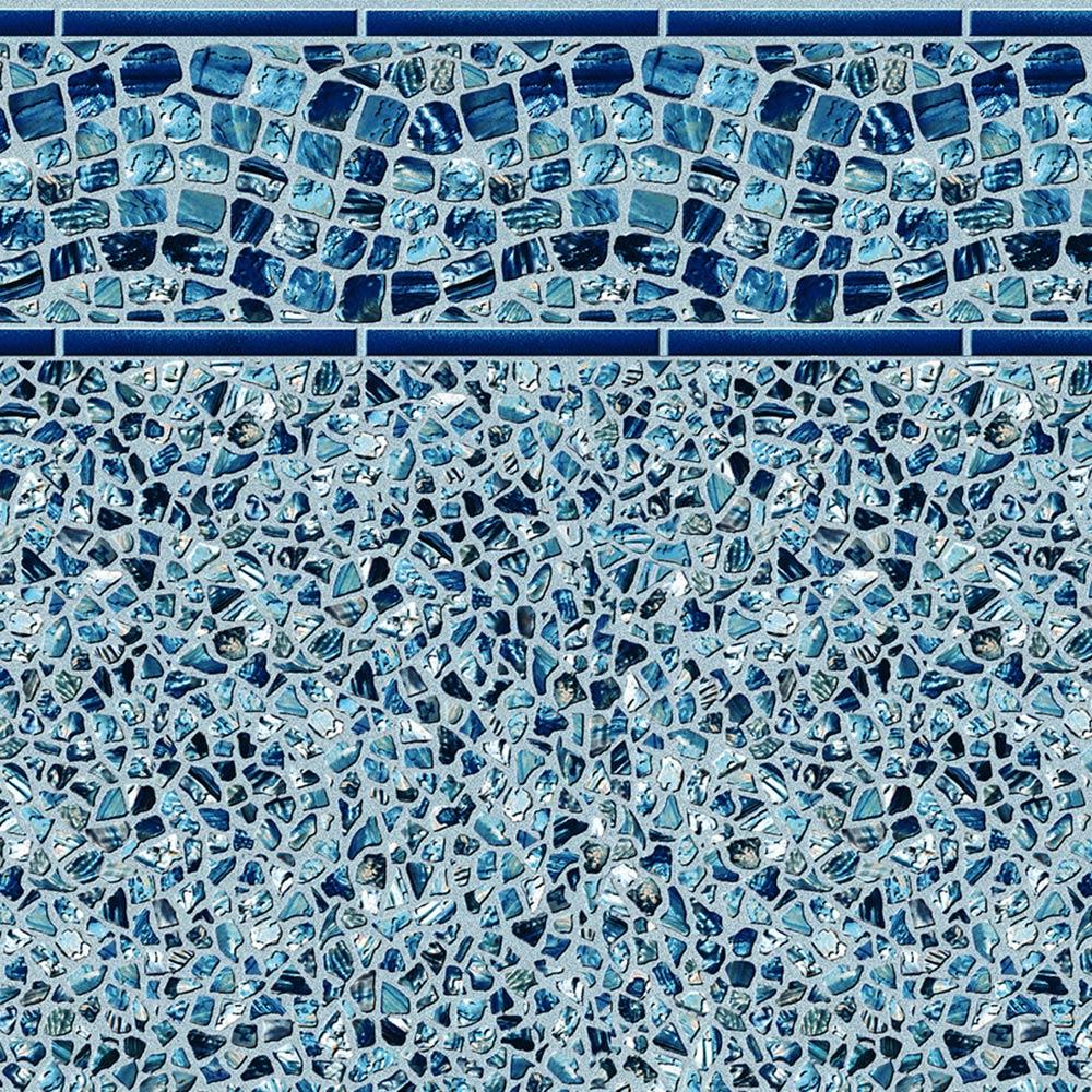 Pool Fits Waterfall Tile Ocean Pearl Floor Inground Pool Liner Pattern